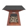 Quan Quadro Table Corten 100x100cm
