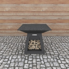 Quan Quadro Table Carbon 100x100 cm