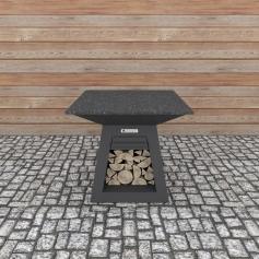 Quan Quadro Table Carbon 100x100 cm
