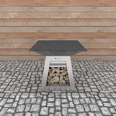 Quan Quadro Table Silver 100x100cm