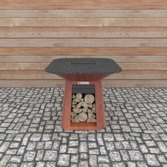 Quan Rondo Table Corten 100x100 cm