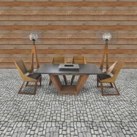 Stôl a 6 stoličiek